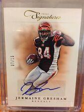 Jermaine Gresham 2012 Prime Signatures Gold  Autograph Card #92 LTD #07/15