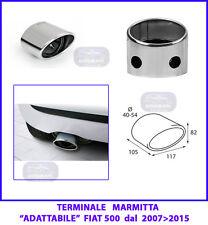 Terminale Marmitta-Codino Marmitta -Terminale di Scarico Fiat 500 dal 2007>2015