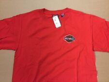 Harley Davidson embroidered bar and shield Red Shirt Nwt Men's Medium