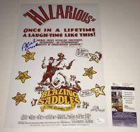 Mel Brooks Signed BLAZING SADDLES 11x17 Photo PROOF JSA COA In Person Autograph