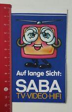ADESIVI/Sticker: sul lungo periodo-SABA TV VIDEO HI-FI (17021796)