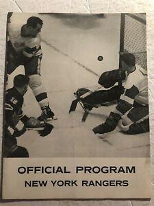 1962 NEW YORK Rangers vs DETROIT RED WINGS Program GORDIE HOWE Worsley BATHGATE