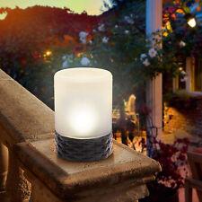 2 x LED Solar Tischleuchte Rattan Solarleuchte Dekoleuchte Garten Leuchte Lampe