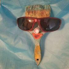 """Unique Vintage Paintbrush """"On A Sunny Day"""". Old Painting Brushes Decor"""