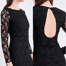 Beautiful MAJE Rosane Cutout Guipure Black Lace Dress Size 2 worn once RRP$550