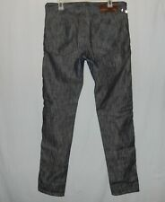 Mens Naked & Famous Black Jeans Size 33 X 35 Selvedge Denim Button Fly