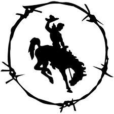 2 Aufkleber Cowboy Rodeo Pferd Auto Sticker Decal 12 cm Tuning JDM