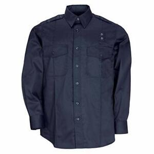5.11 Tactical Men's PDU Long Sleeve Twill Class A Shirt Midnight Navy 72344 XL/T