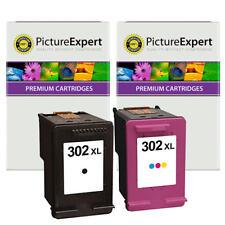 302XL Remanufactured Black & Colour Ink Cartridge Set for HP Deskjet 3634