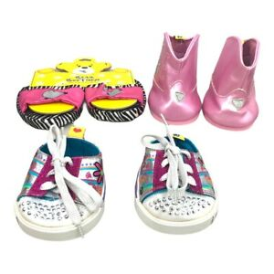 Build a Bear 3 Pair Lot of Shoes Skechers Cowboy Boots Slippers