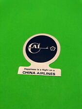 China Airlines Sticker Vintage