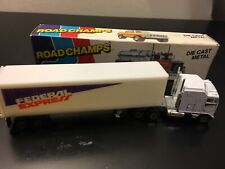 Road Champs Federal Express Kenworth White Trailer Semi - 1:87 - Die Cast Boxed!
