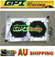 ALUMINUM RADIATOR&Shroud&Fans for HOLDEN COMMODORE VY 6CYL V6 2003 2002 2004 MT