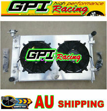 ALUMINUM RADIATOR+Shroud+Fans for HOLDEN COMMODORE VY 6CYL V6 2003 2002 2004 MT