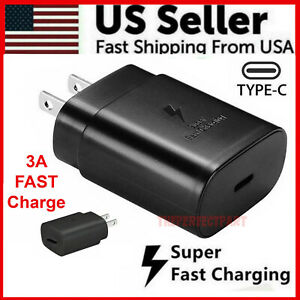 25W Type USB-C Super Fast Wall Charger For Samsung Galaxy S20 5G Ultra iPad Note