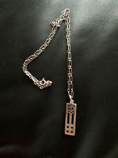 Silver Necklace And Chain Celtic Design