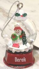Personalized Snow Globe Ornament - Derek - FREE Shipping