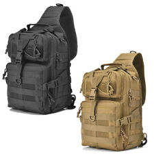 Men Tactical Sling Bag Pack Military Shoulder Backpack Hiking Camping Fishing US