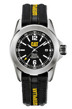 Mens Caterpillar Big Twist CAT YA14164131 Black Canvas Band and Dial Date Watch