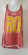 USC Trojans Women's Reagan Track Tank Pale Red Top Vintage Style NWT Large