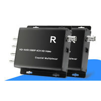 4 Channel HD Video Over Coaxial Cable Multiplexer 100M(328ft.) for HD AHD Camera