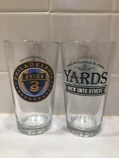 Pair of Philadelphia Union / Yards Brewery Pint Beer Glasses!!!