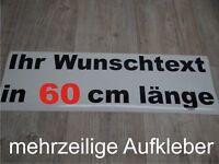 60cm ein-/mehrzeiliger Aufkleber Wunschtext Auto Domain Beschriftung Schriftzug