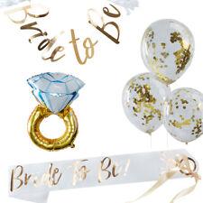 """Deko-Set """"Bride to be"""" in weiß & gold / JGA / Junggesellinnenabschied / 8 Teile"""