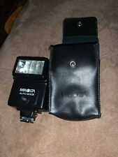 Minolta Auto 200X Electronic Flash 35mm SLR Film Camera Made In Japan with case