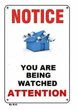 Security camera signs warning, notice surveillance video, laminated & waterproof
