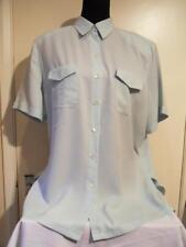 Ladies BASLER Pale Mint Green Fine Pinstripe Soft Short Sleeve Blouse - 18