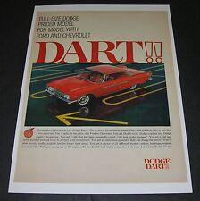 Print Ad 1961 DODGE 4-door red car in parking lot Secret of success is simple