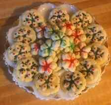 Homemade Classic Christmas Spritz Butter Cookies- THREE DOZEN *Great Gift*