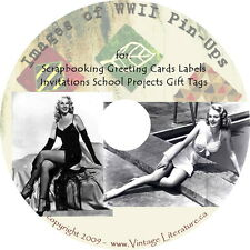 Images of World War II Pin-ups Art & Craft Prints { Clip Art Graphics } on DVD