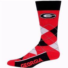 NCAA Georgia Bulldogs Argyle Unisex Crew Cut Socks - One Size Fits Most