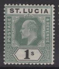 ST.LUCIA SG62 1902 1/= GREEN & BLACK MTD MINT
