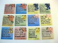 Dr. Seuss Inspirational Quotes Refrigerator Fridge Magnets Set of 12 A