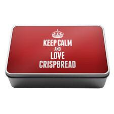 RED Keep Calm and Love Crispbread Metal Storage Tin Box 1012