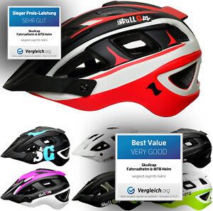 SkullCap® Fahrradhelm MTB Mountainbike-Helm Herren & Damen mit Visier Helm Bike