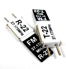 27mhz FM Transmitter and Radio RC Crystal Set 27 mhz 27.175 TX & RX Black Ch 22