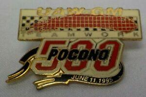 NASCAR teamwork 500 UAW-GM 1995 POCONO Motor Speedway Pinback Lapel Pin