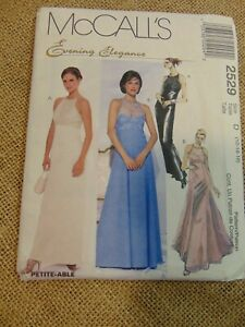 McCalls Misses Evening Dresses & Bag  Sz 12, 14, 16 Sewing Pattern UNCUT
