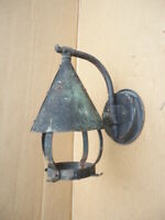 Awesome Vintage Outdoor Exterior Arts & Crafts Style Copper Light Sconce Fixture