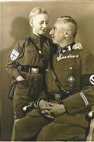 "German WW II ""  5 x 7 Inch  "" Photo  <<>>       Officer + Son"
