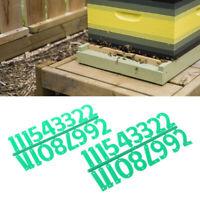 2X Beehive Digital Number Bee Box Sign Frame Beekeeping Beekeeping Marking Board