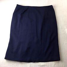 Nwt Lauren Ralph Lauren Sailor Navy Blue Light Wool Straight Skirt Womens 16 XL
