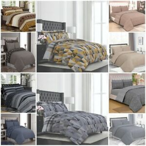 100% Cotton Complete Duvet / Quilt Cover Set with Fitted sheet and Pillow case