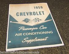 1959 Chevrolet Passenger car Impala Air Conditioning manual 1958