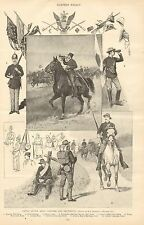 US Army Uniforms & Equipment by Zogbaum, Vintage 1896 Antique Art Print