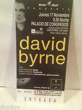 David Byrne Concert Ticket Stub 11-17-1994 Spain - Rare - Picture Ticket